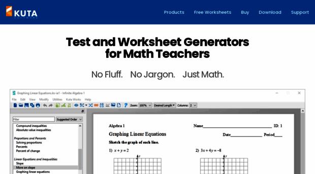 Kuta software matrix tests datei Finde die Datei – Precalculus Review Worksheets