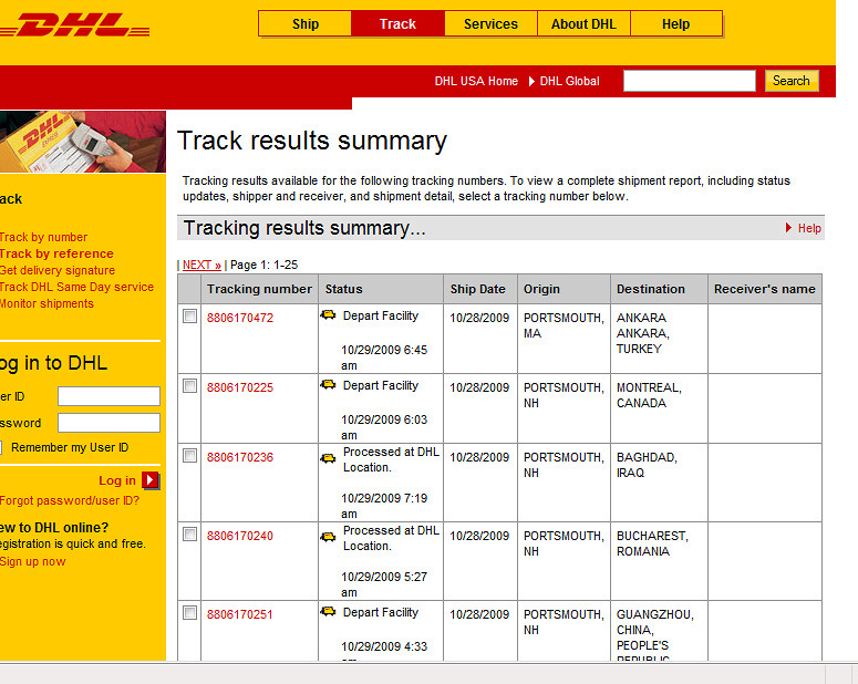 Dhl global mail service guide