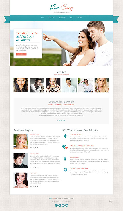 Online dating site templates