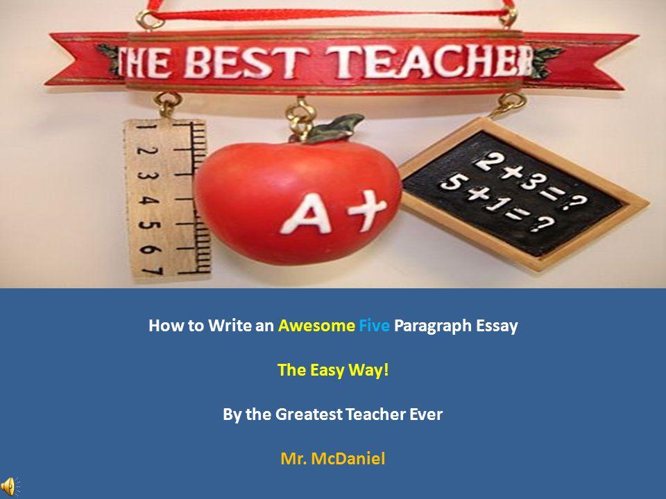 Best teacher essay