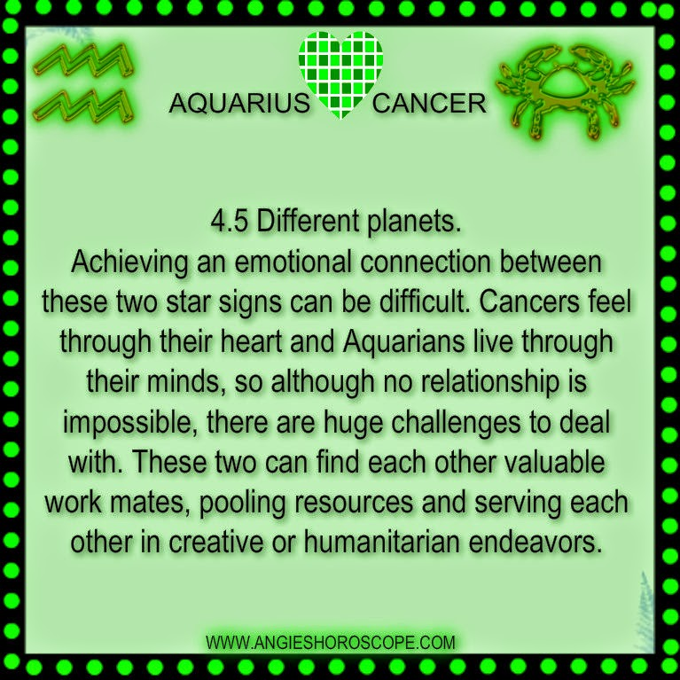 Cancer Woman and Aquarius Man Love Compatibility - Ask Oracle