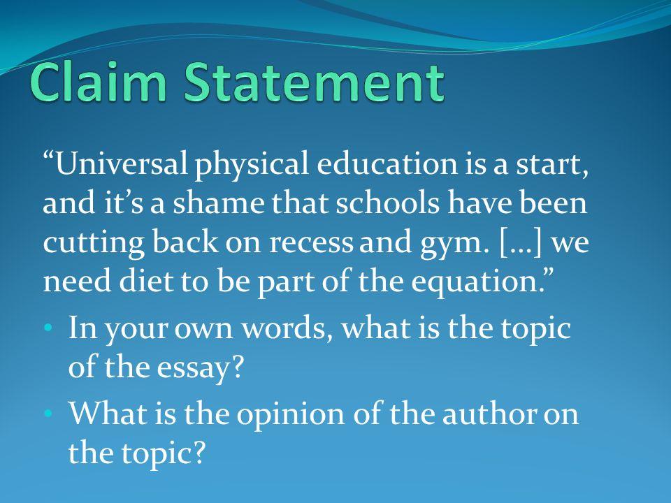 Argumentative essays on education