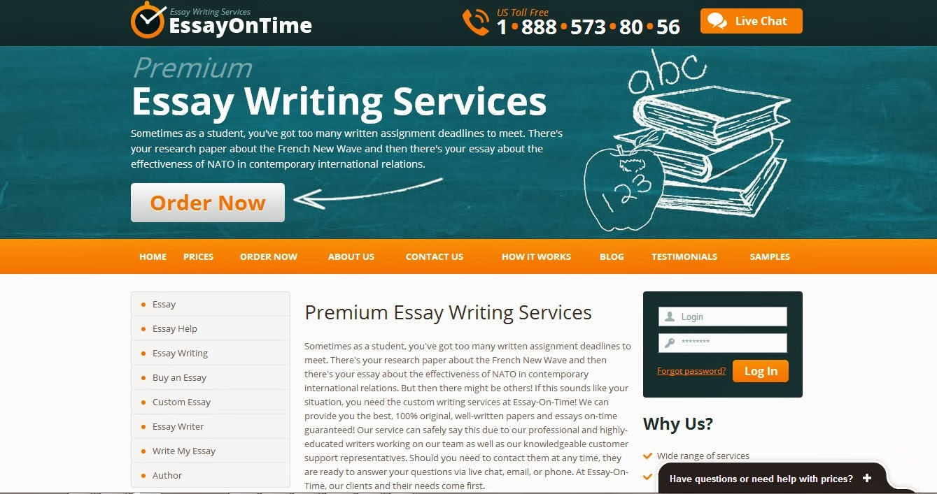 Online custom essay editing services