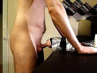 Fetish blonde gf milking cock