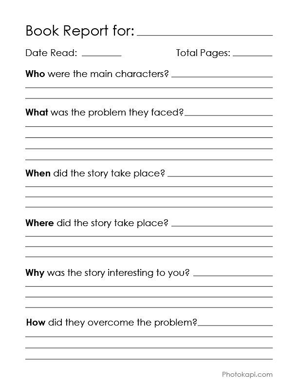 + Book Report Templates: Extra large, fun, and