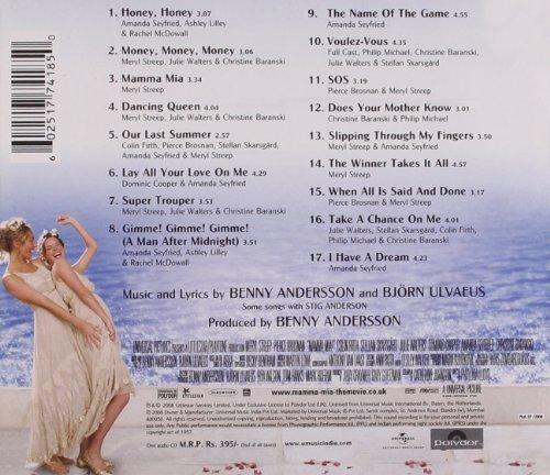 Mamma Mia! Soundtrack CD Album at CD Universe