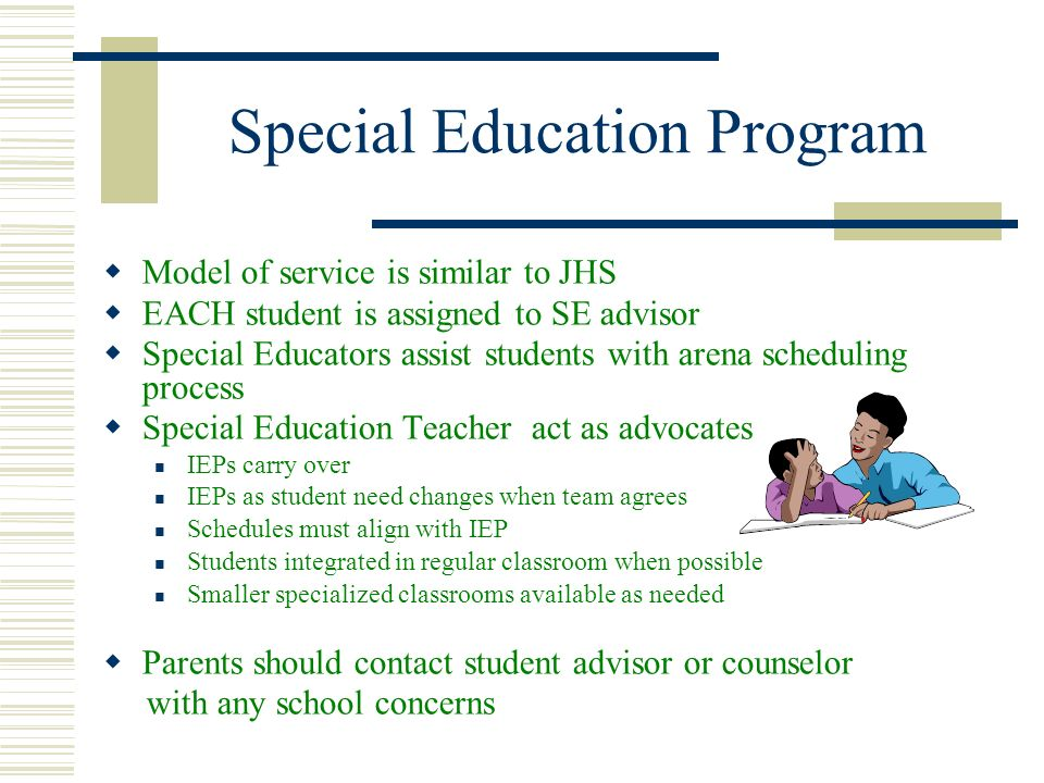Home instruction special education