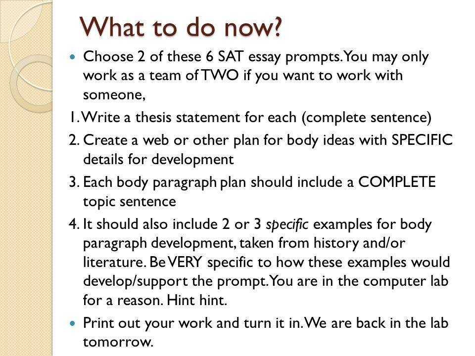 od examples to use on sat essay Essays - StudentShare