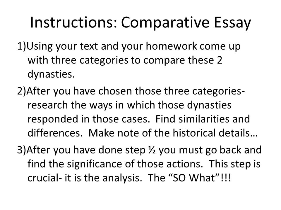 Comparison and Contrast Essay Examples College - Major Tests