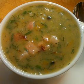 суп гороховый с копчеными свиными ребрышками рецепт