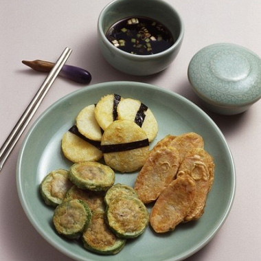 Рецепт Жареные кабачки сзеленью