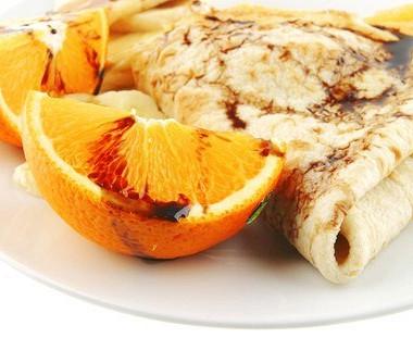 Рецепт Апельсиновые блины изовсянки скурагой