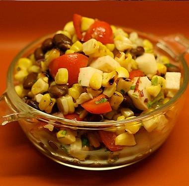 Рецепт Мексиканский салат смедово-лаймовой заправкой