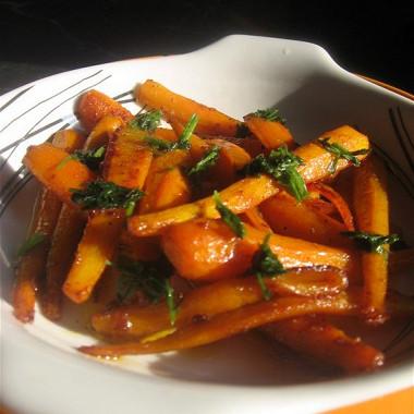 Рецепт Глазированная морковь скорицей
