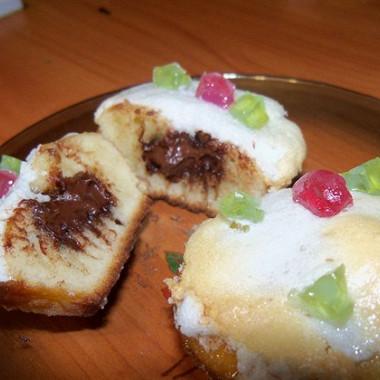 Рецепт Ванильные кексы сшоколадной начинкой
