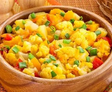 Рецепт Овощное рагу сцветной капустой