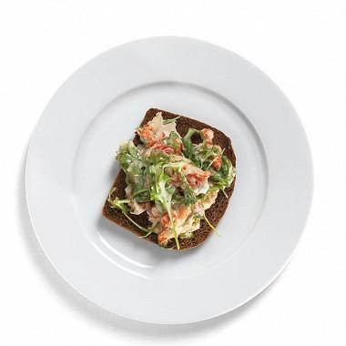 Рецепт Тосты изржаного хлеба сраковым салатом