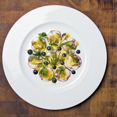 Рецепт Салат изосьминогов всоусе винегрет изцитрусовых иустриц