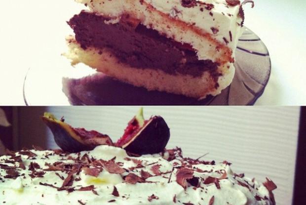 Бисквитный торт с шоколадным кремом рецепт с фото
