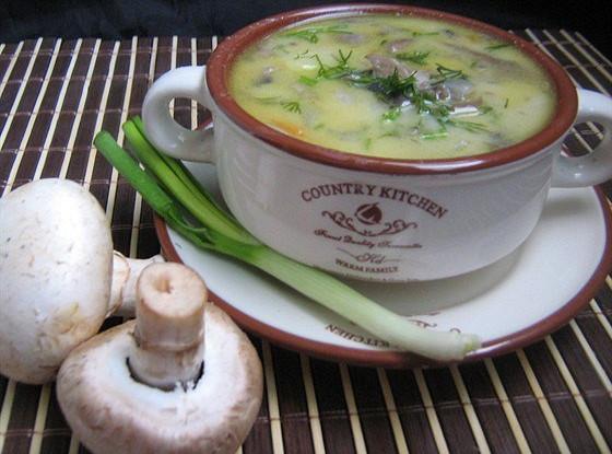 рецепт сырного супа из сосисек, и шампиньонов