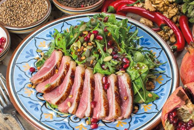 грудкой салат Рецепт утиной теплый с