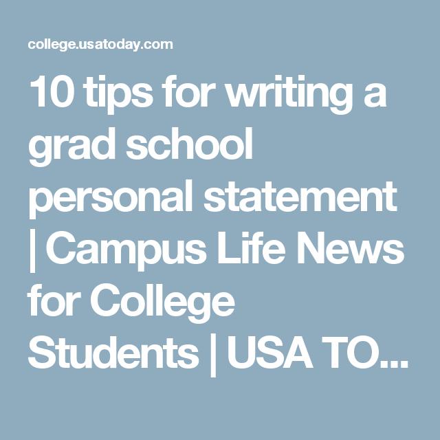 Graduate school essay tips