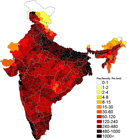 5 words essay on Population explosion in India