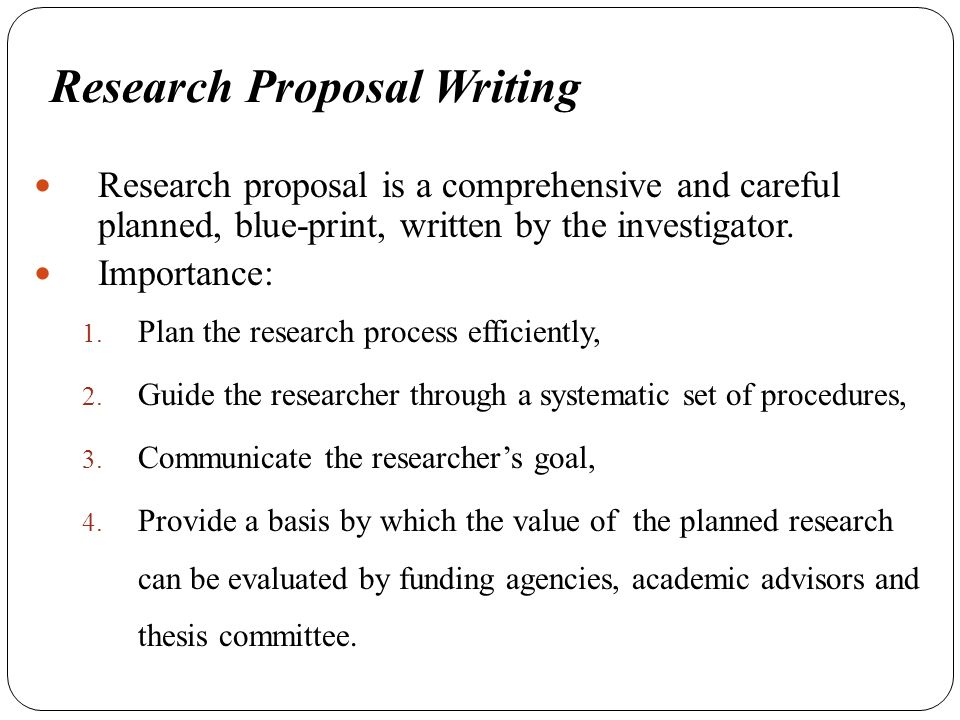 Guide to Writing Your Research Proposal