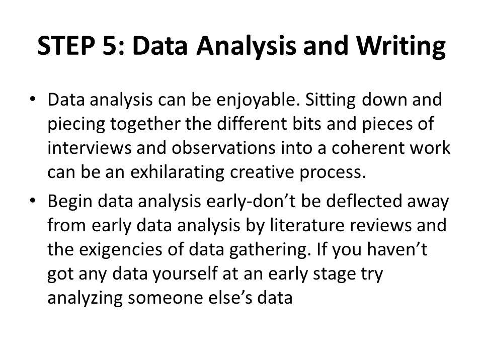 Write my example of data analysis