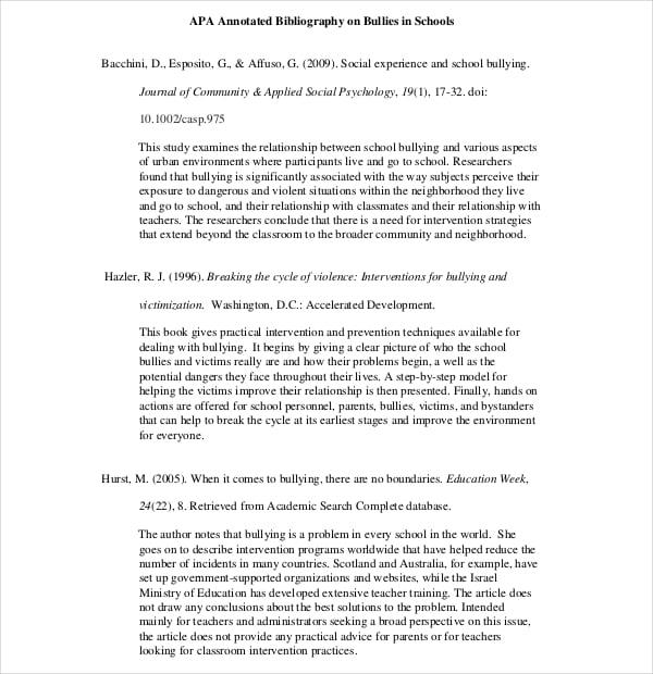 APA Annotated Bibliography - Nursing - Goal