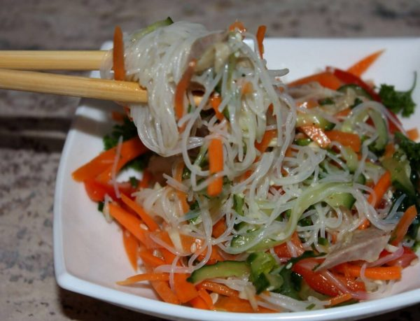китайский салат фунчозой рецепты фото