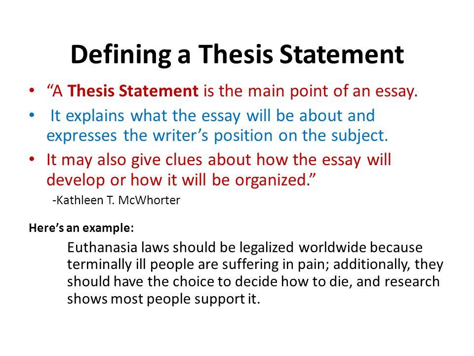 Euthanasia opinion essay