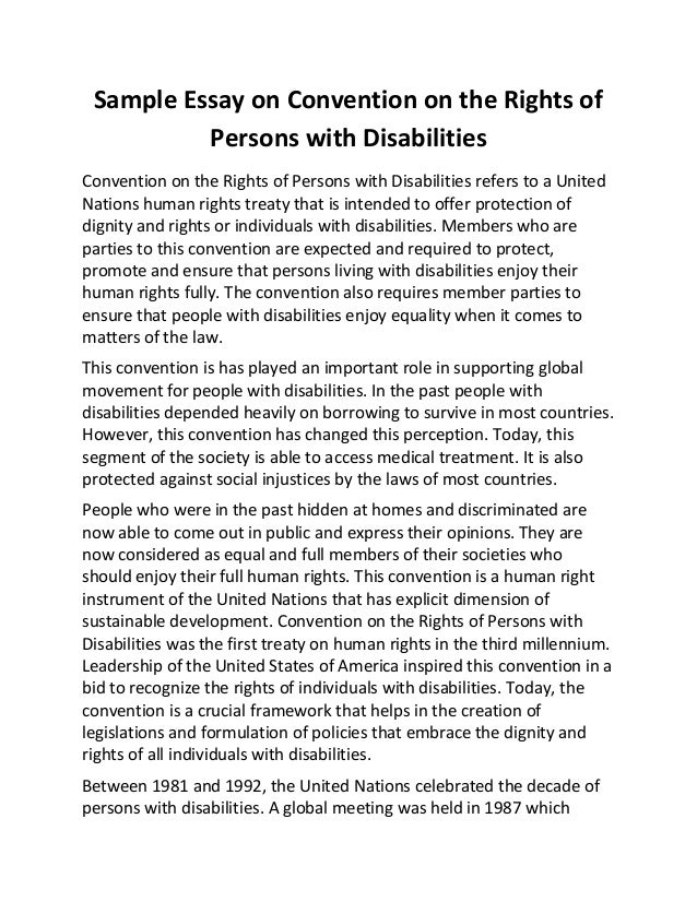 people with special needs essay