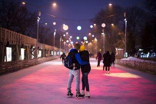 Стереокаток в Парке Горького. Новый год. (Утро)